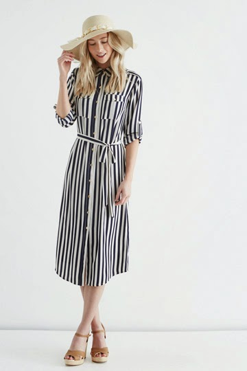 striped shirt dress oasis