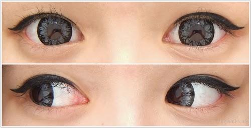Cute Ulzzang Eyes with Geo Xtra Plum Grey