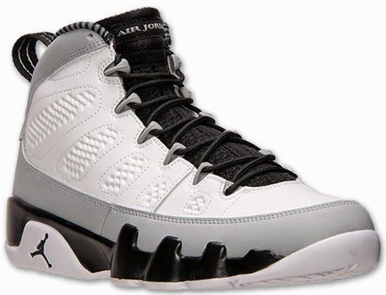 Air Jordan 9 Retro Barons White Black Wolf Grey Release Reminder