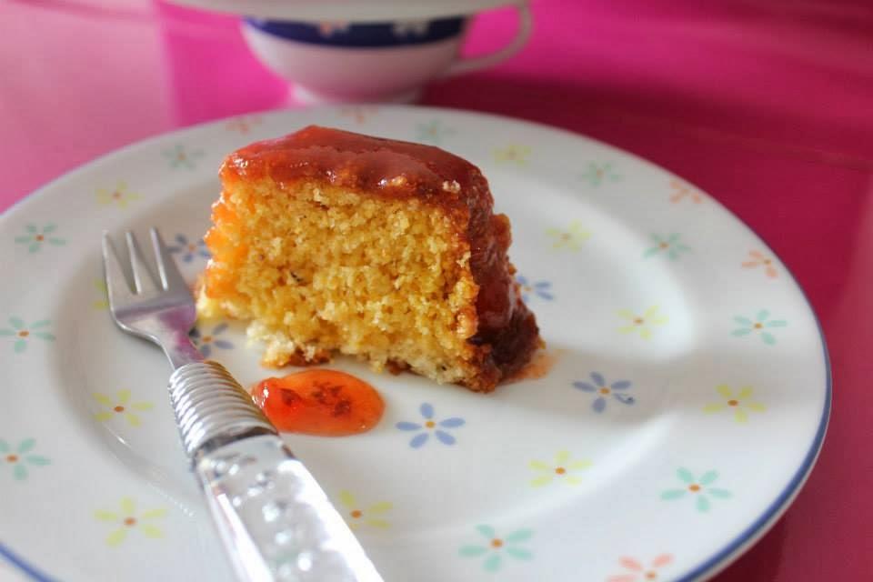 bolo de milharina com amido de milho