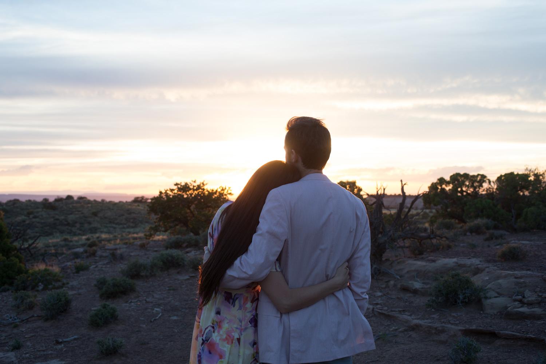 Canyonlands Moab Utah at Sunset Time