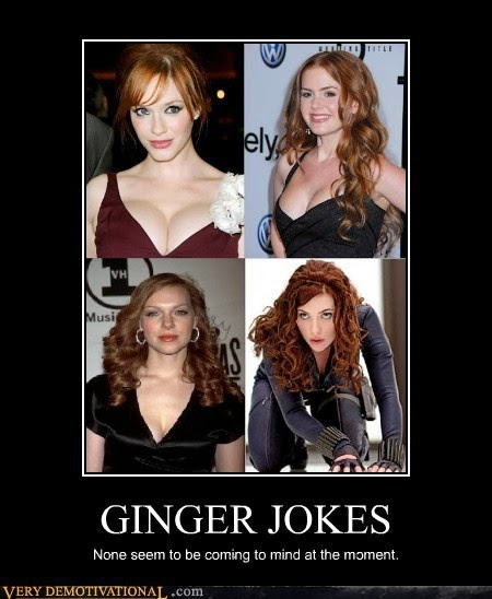 Remarkable, rather dirty redhead jokes can speak