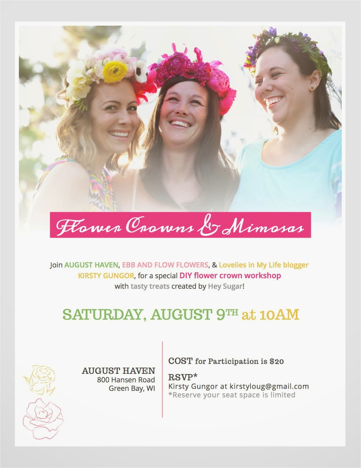 Flower Crown Workshop - August 9th