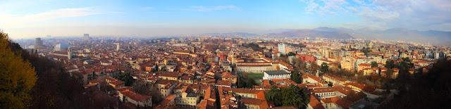 Panoramica di Brescia dal suo Castello