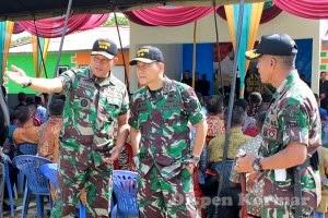 Asops Panglima TNI dan Asops Dankormar tinjau Latihan pam VVIP di Lampung (Foto: Dispen Kormar)
