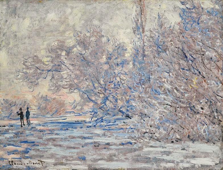 Claude Monet Le Givre à Giverny. 1885