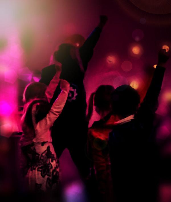 Tanzen auf dem Discogeburtstag