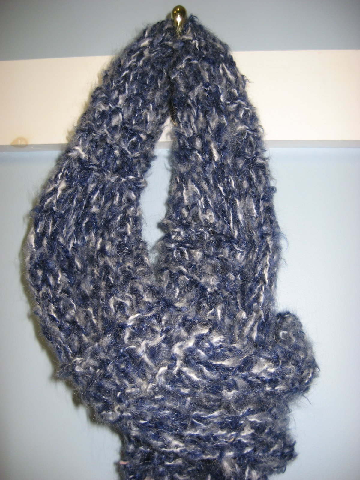 Knitted Stockinette Stitch Scarf Pattern : Hooked on Needles: Divine Knitted Scarf ~ Quick, Easy, No Pattern!