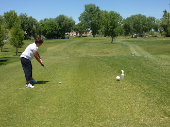 Jer and I golfing in Littlefield Ariz.