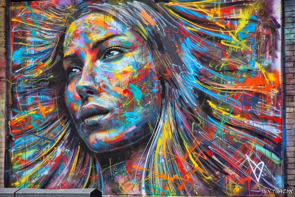 simply creative spray paint portraits by david walker