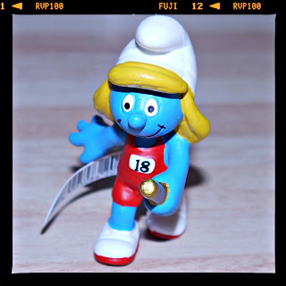 Olympics, relay, Schleich, smurfs