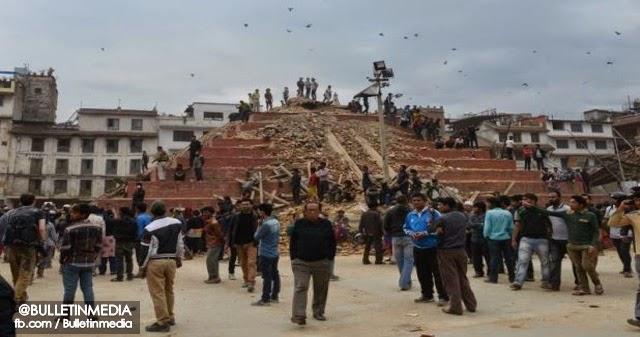 Mangsa Gempa Bumi Nepal Terus Meningkat Kepada Lebih 1,800 Kematian