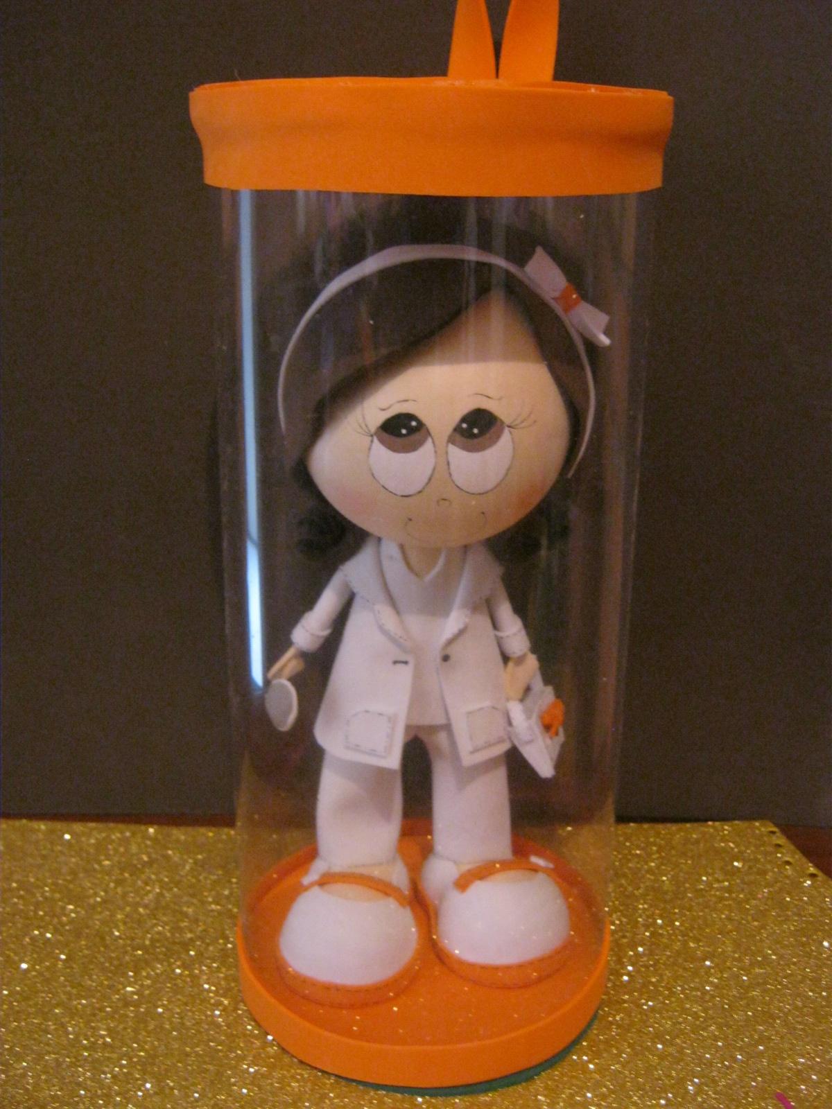 Fofuchas en foami y goma eva patrones moldes modelos - Regalos para enfermeras ...
