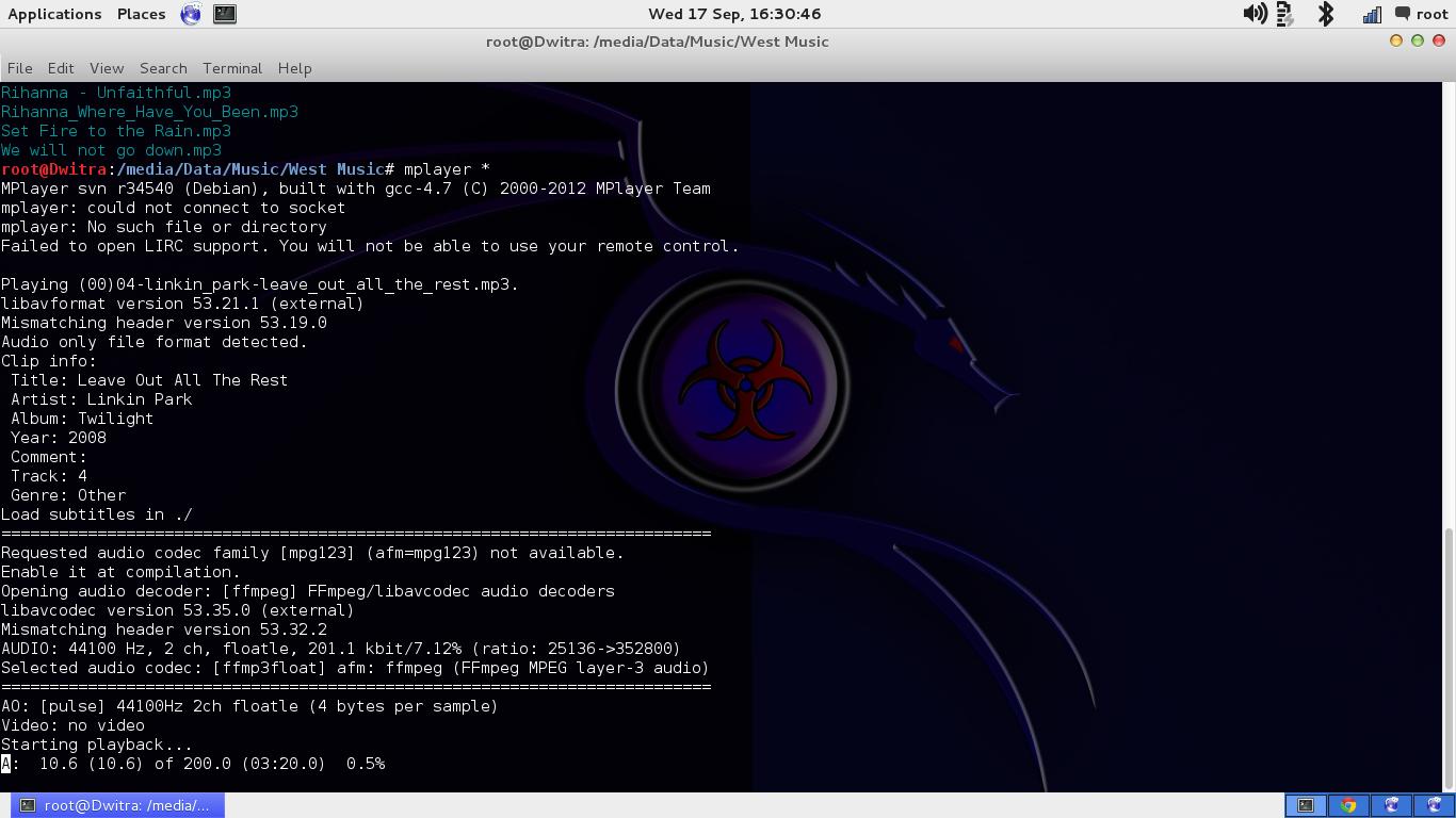Memutar Musik MP3 Menggunakan Commend Line (Terminal) di Linux