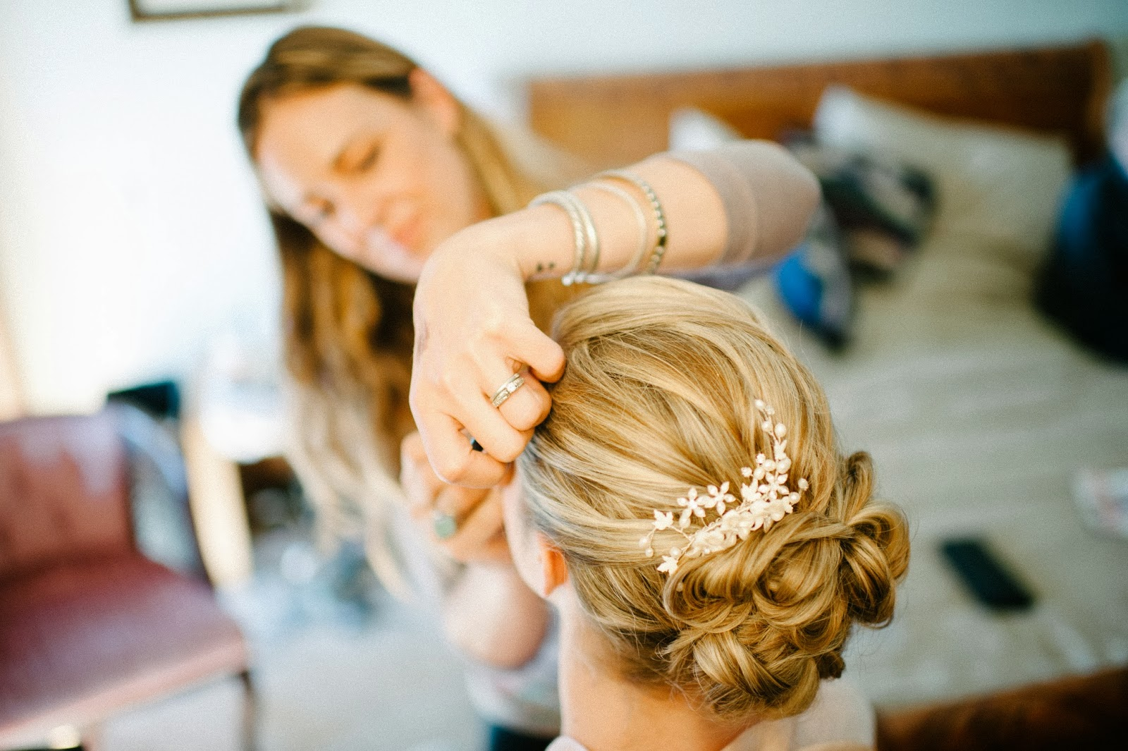 curled bridal up do // Acres of Hope Photography // Take the Cake Event Planning