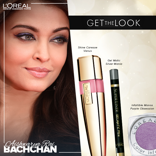 Aishwarya Rai makeup look for The Search movie premier at Cannes 2014