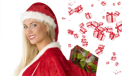 Happy New Year wallpapers and Merry Christmas Wallpapers santa girl hot girls