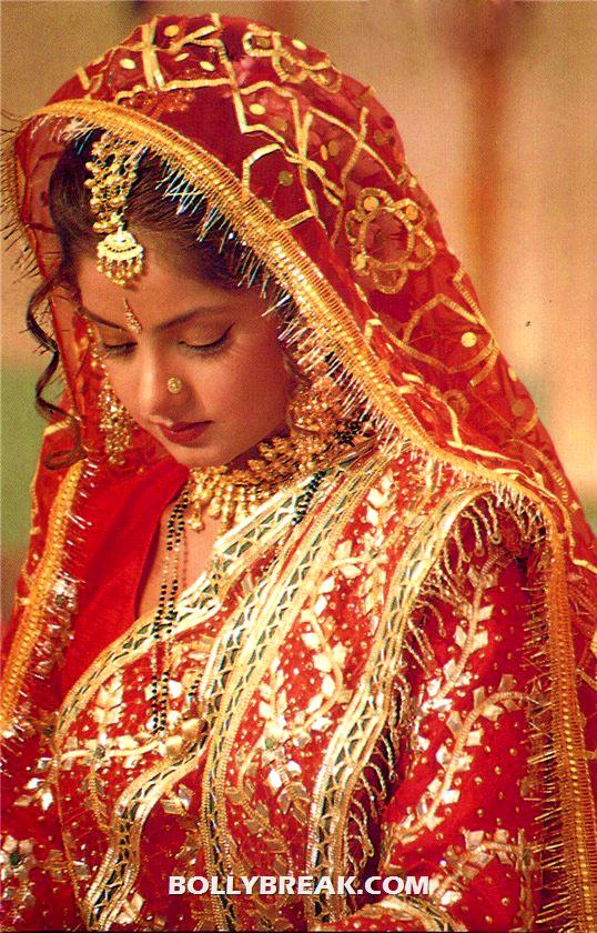 Divya bharati in red bridal dress - Divya bharati in Bridal Dress