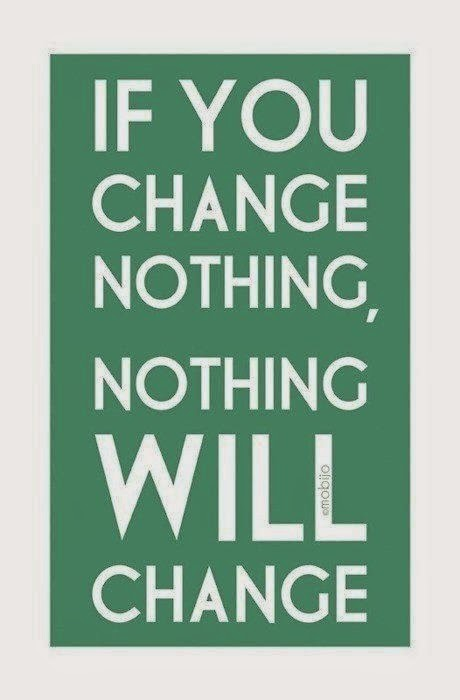 Nothing will change unless you change - Inspirational Picture Quotes