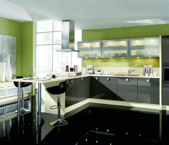 Las influyentes paredes de la cocina cocinas con estilo - Combinar colores cocina ...
