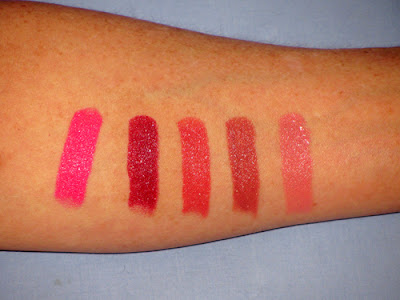 BareMinerals Kiss Tell Lipstick Set Swatches