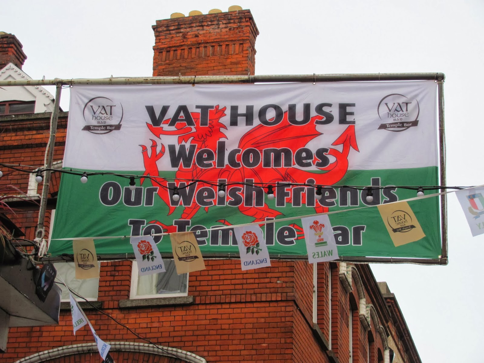 VAT House Welcomes Wales Temple Bar, Dublin