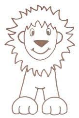 рисуем льва поэтапно