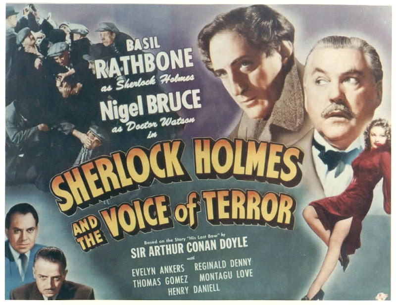 Sherlock Holmes: The Voice of Terror Classic Film Poster