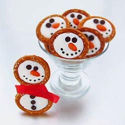 Frosty Snowmen Pretzels