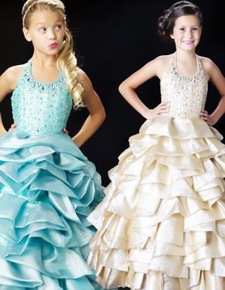 Sammlung Mac Duggal Lange Kleider für Mädchen