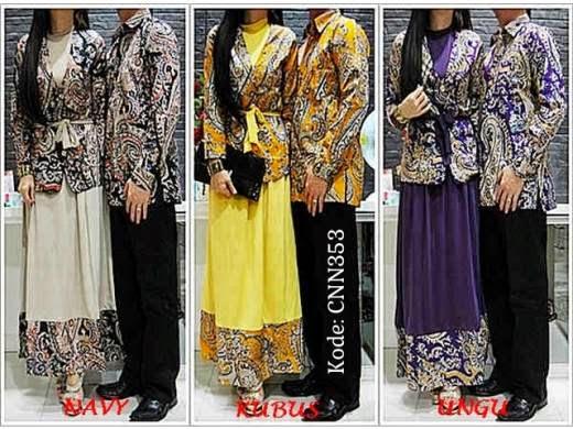 Couple Batik Inneke Cnn353 Baju Gamis Terbaru Gamis