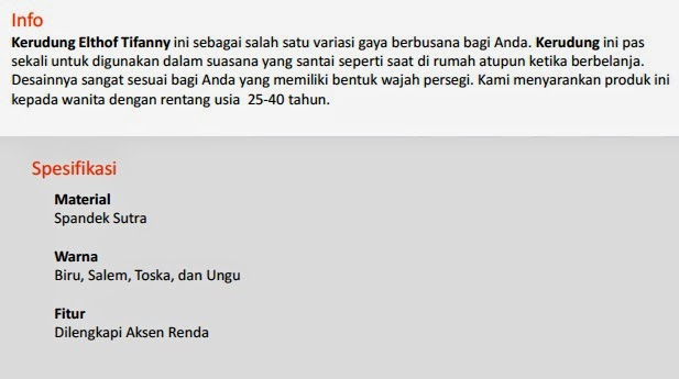 Jual Jilbab Elthof Tifany Pekanbaru