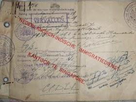 Nederlandsch-indische (Kartu imigrasi jaman Hindia Belanda) TERJUAL / SOLD