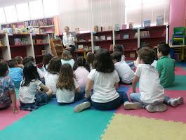Visita escolar del cole de San Fernando a la Biblioteca