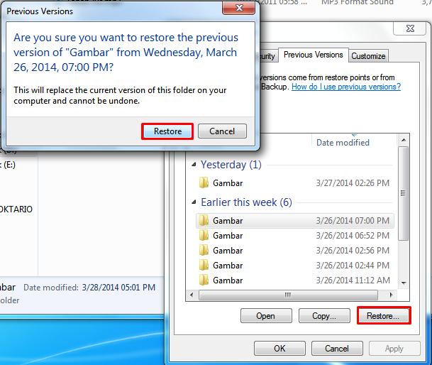 cara mengembalikan file yang terhapus permanen tanpa software