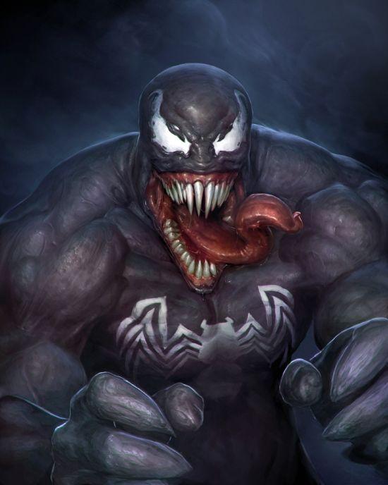 Stepan Alekseev ilustrações digitais fantasia violência Venom