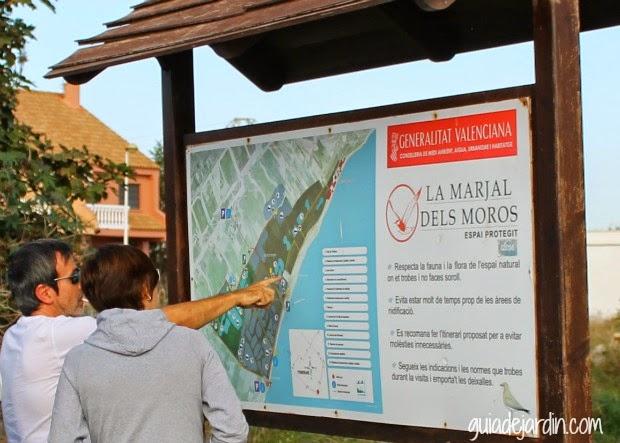 mapa situado en la entrada