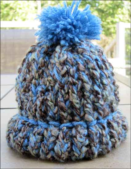 Loom Knit Baby Hat With Brim : Altered scrapbooking baby boy hat