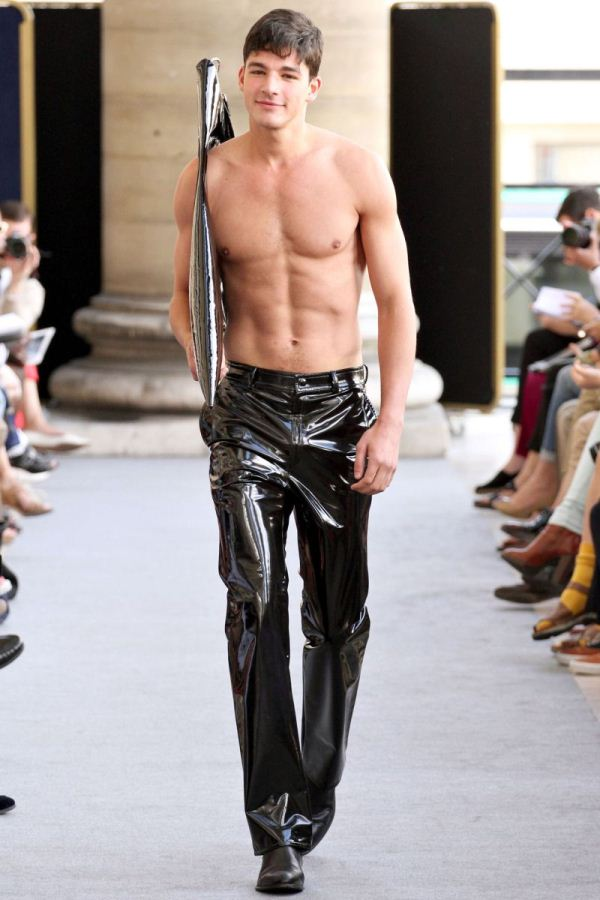 Cute male models on the runway S/S 2013 Menswear Pierre Cardin