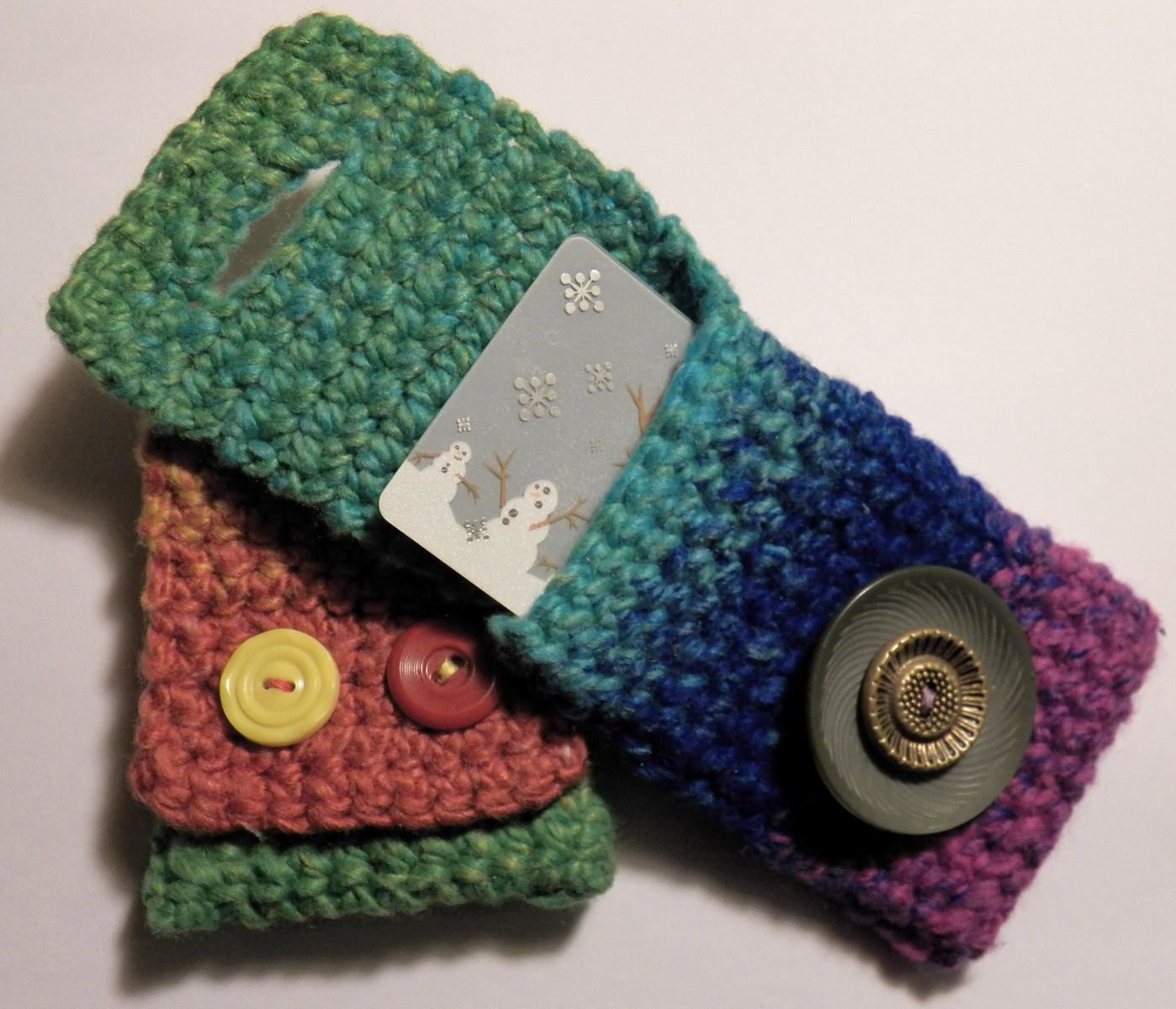 Dont Eat the Paste: Crocheted Gift Card Holders- Pattern