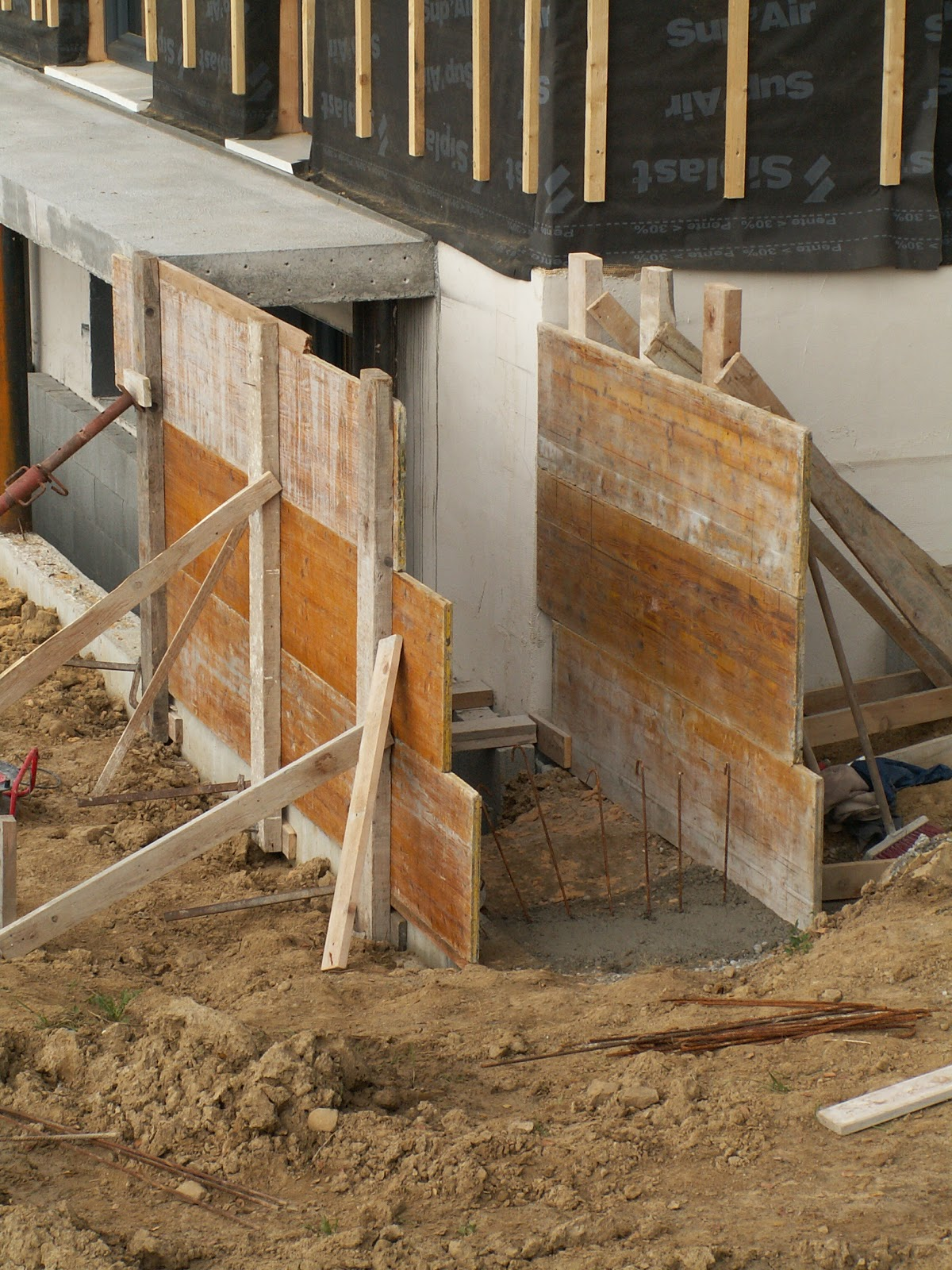 Construction d 39 une maison passive minergie p cruseilles for Coffrage escalier beton exterieur