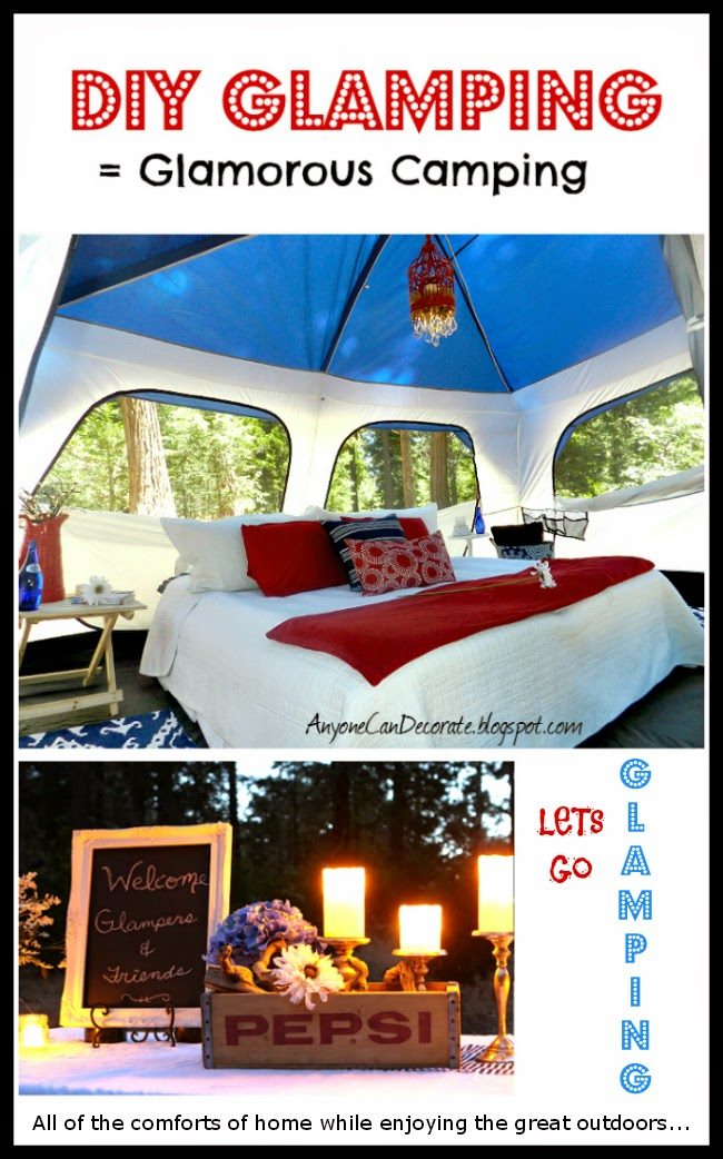 Anyone can decorate get ready to go glamping for Glamping ideas diy