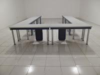 furniture kantor semarang - meja rapat kaki stainless 01