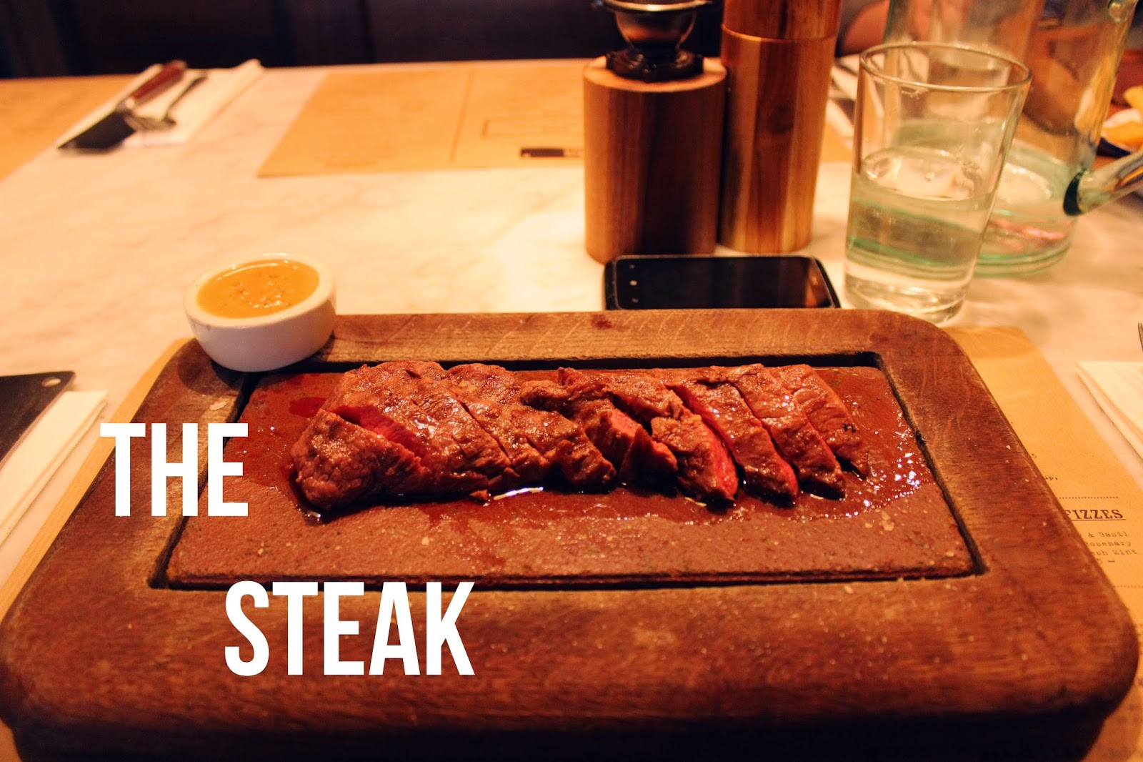 Steak at Flat Iron, Soho - by Art Style Love