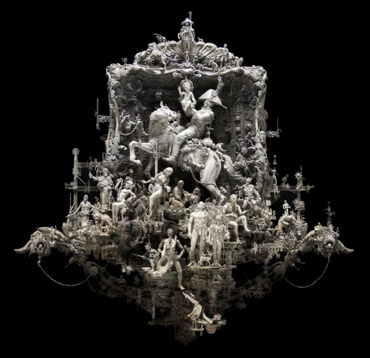 Kris Kuksi 1973 | American Rococo Style sculptor