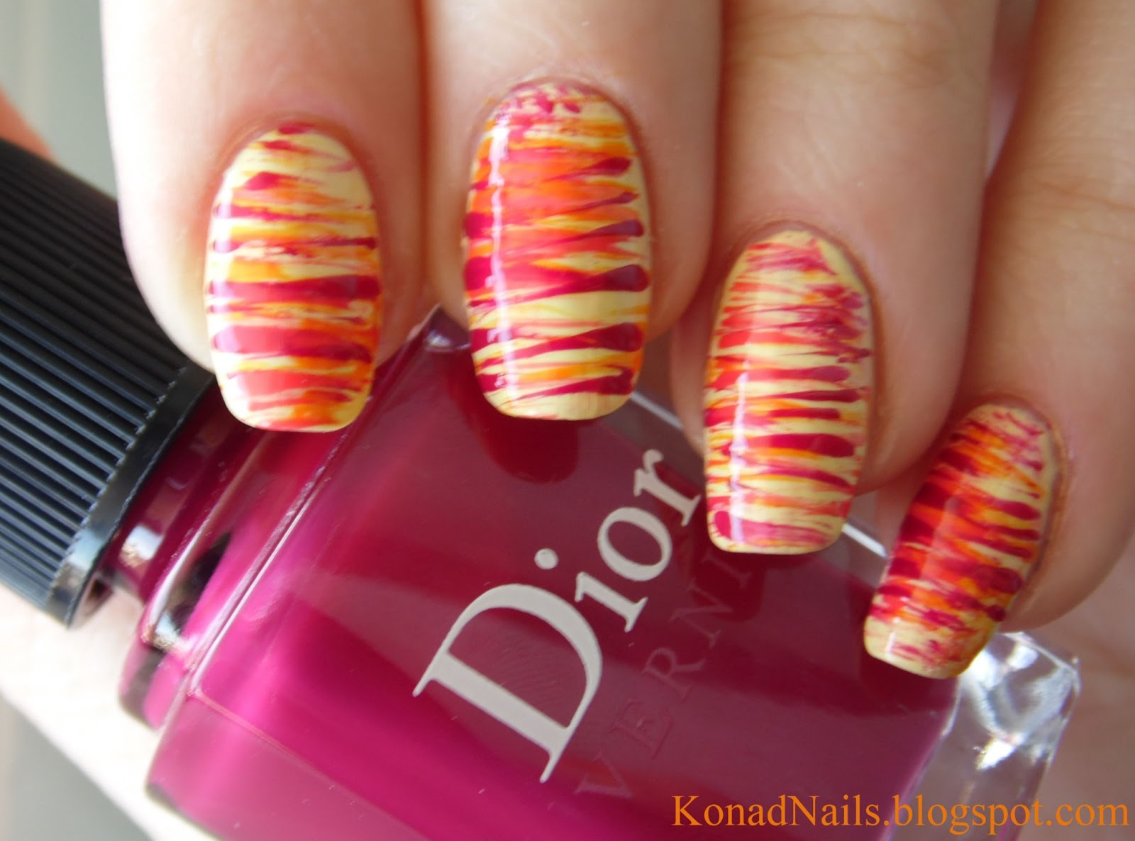 Konad addict striped nail art using fan brush i got this set from an online nail art store born pretty and they cost 596 theyre quality brushes of different dimensions and shapes in order that you prinsesfo Image collections