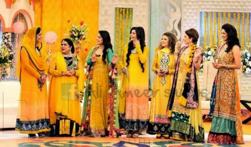 Mehndi Function Dresses 2015 : Fashion industry mayoon mehndi dresses