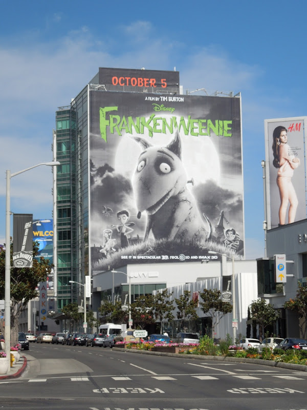 Giant Frankenweenie movie billboard