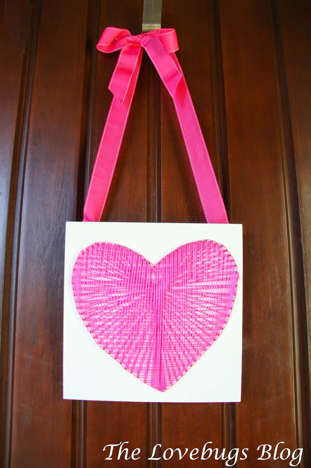 Valentine's Day String Heart Door Decoration