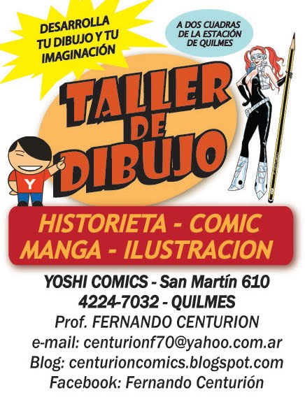 Mi taller de dibujo de historieta e ilustración en zona sur.